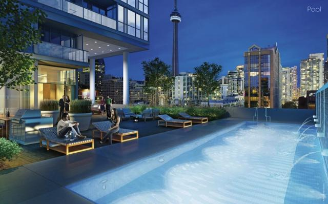 The pool at Great Gulf Homes' Charlie condos, Toronto