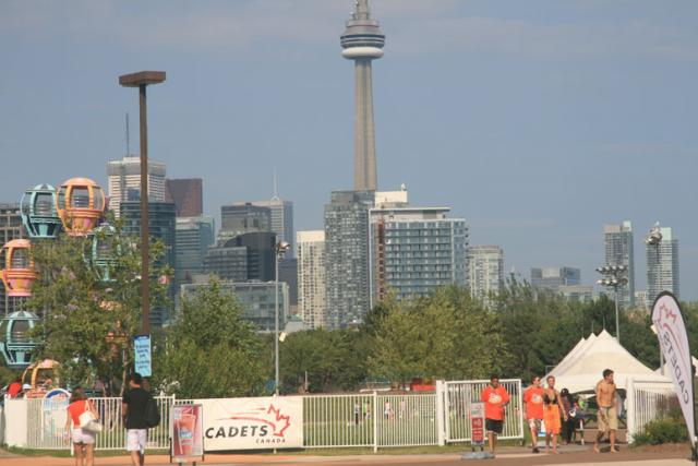 Toronto's skyline from the Canadian National Exhibition. Photo by Ed007Toronto.