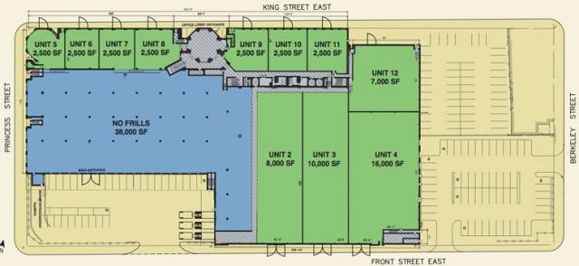333 King Street East ground floor plan in Toronto by First Gulf Corporation