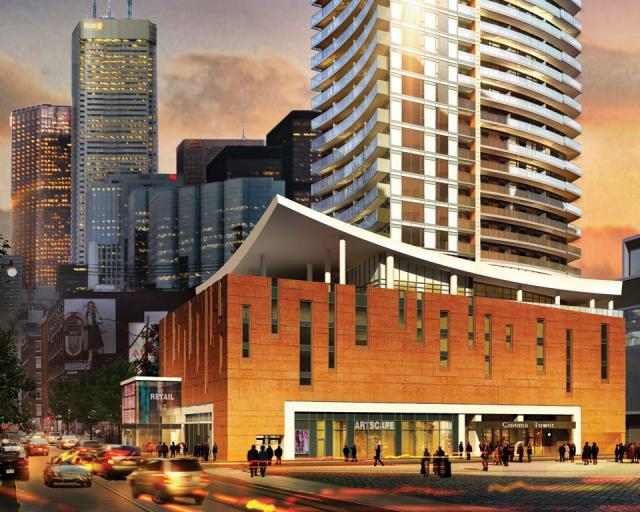 Cinema Tower condos in Toronto by The Daniels Corporation, design by Kirkor