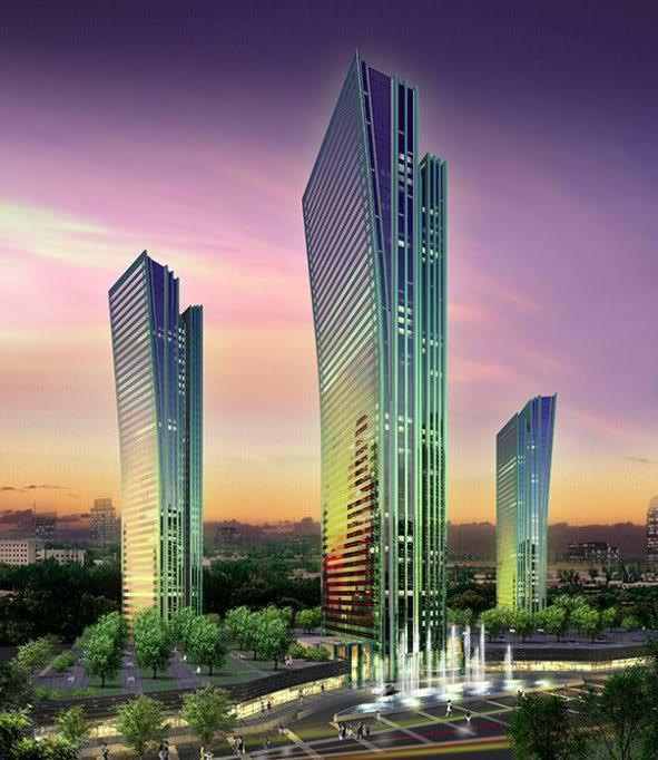Project rendering for Emerald Towers in Astana by Bazis International, Varacalli