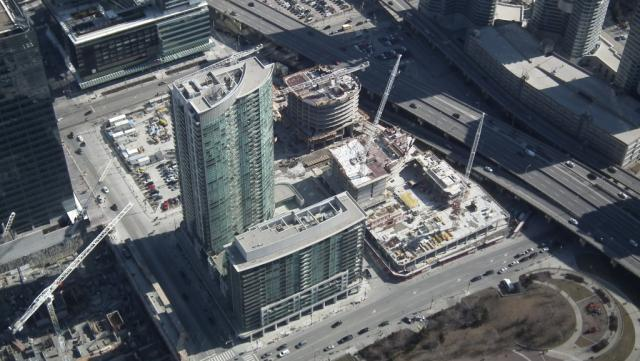 Lanterra Development's Ïce Condominiums under construction, Toronto