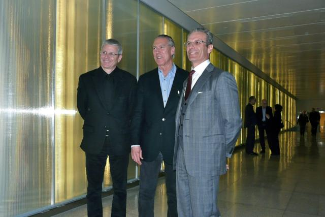 Adam Vaughan, James Carpenter, and Paul Finkbeiner as Lake Light Threshold opens
