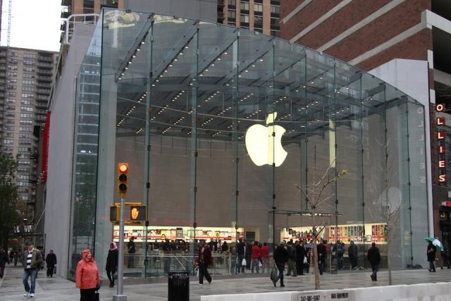 Apple's Lincoln Centre store, New York City, image by mattbuchanan on Flickr