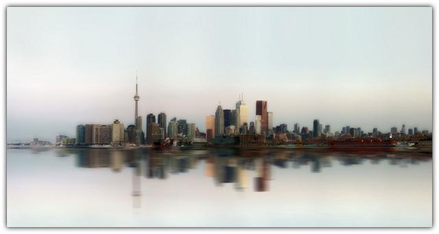 An Interesting Take On The Toronto Skyline From The Port Lands
