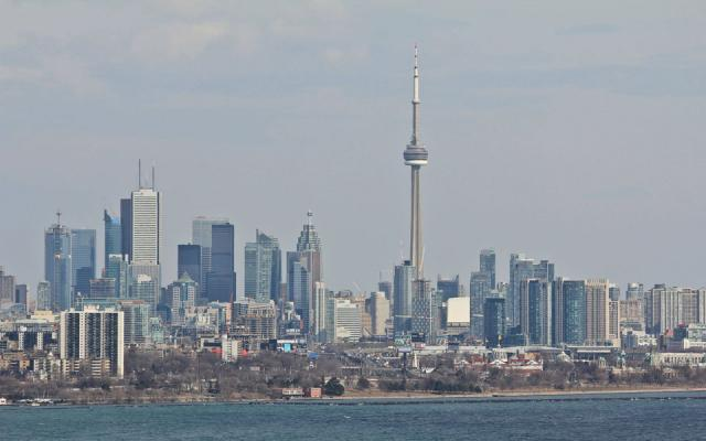 The Downtown Toronto Skyline From Humber Bay
