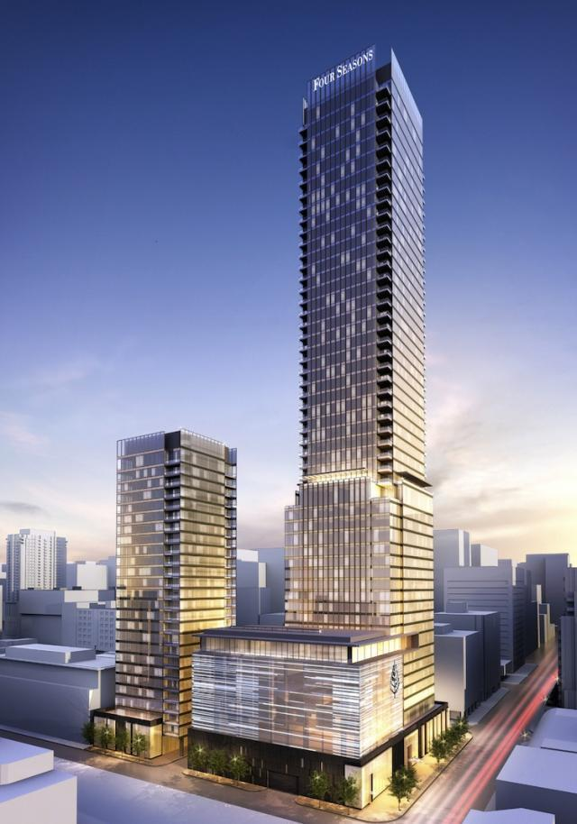 Four Seasons Hotel and Private Residences in Toronto by Menkes and Lifetime Deve