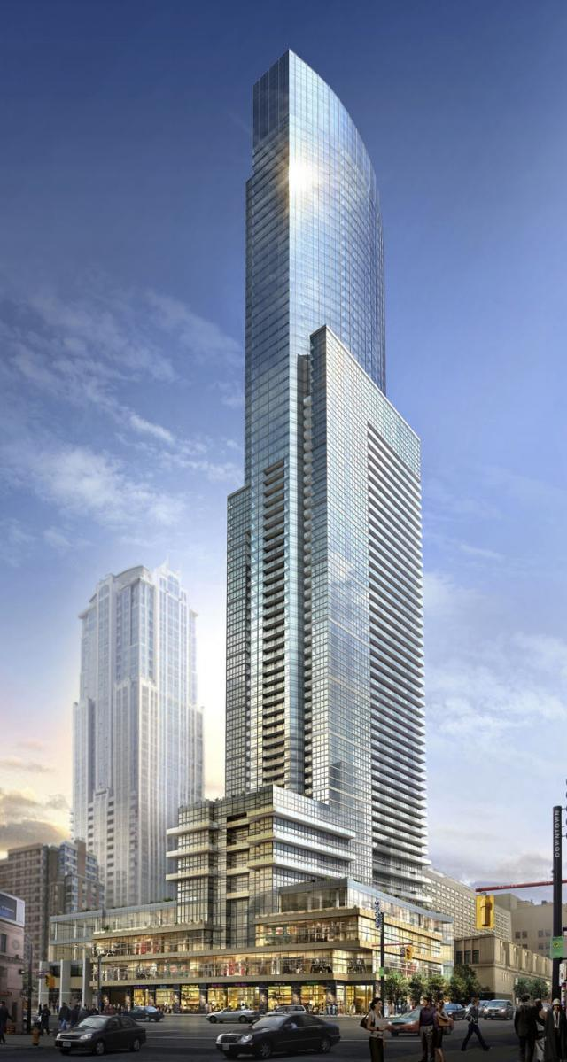 Aura at College Park Condos Toronto by Canderel Stoneridge and Graziani Corazza