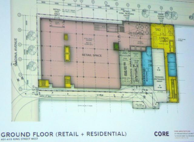 Second proposal 401-415 King Street West ground floor