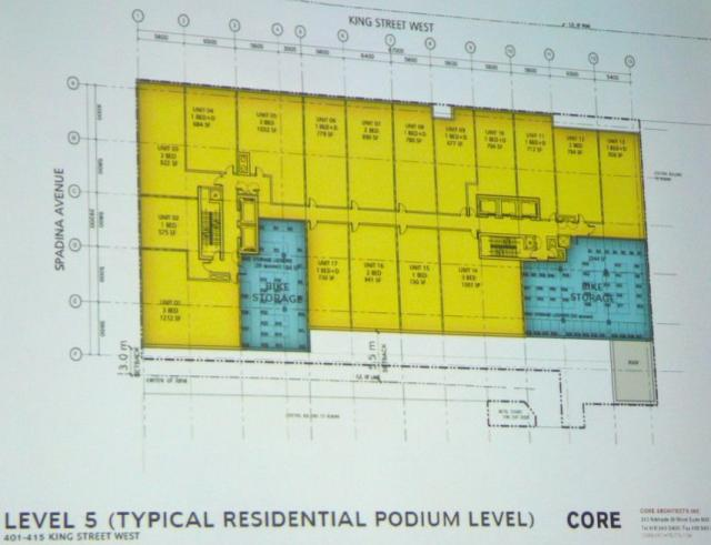 Second proposal 401-415 King Street West Toronto fifth floor