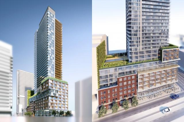 First massing proposal 401-415 King Street West Toronto by Core Architects