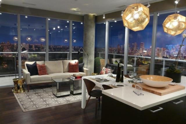 Rise condos model suite, by Reserve Properties, Toronto