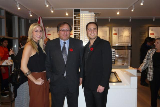 Jessica, Shelley, and Shane Fenton at the Rise Condos launch event, Toronto