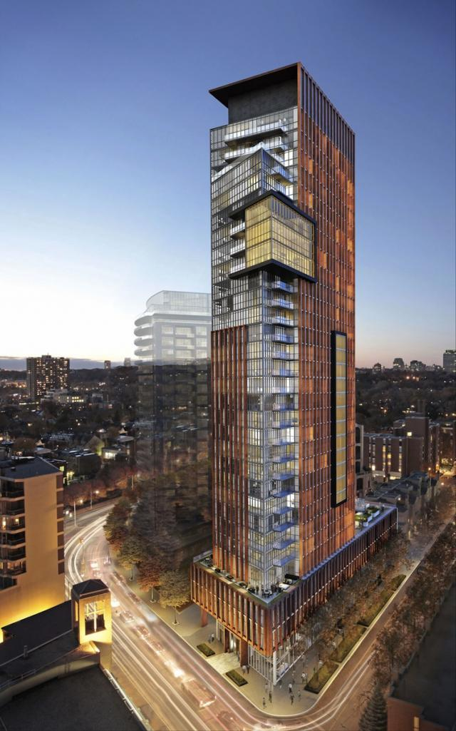 Yorkville Condominiums in Toronto by Lifetime Developments and Wallman Architect