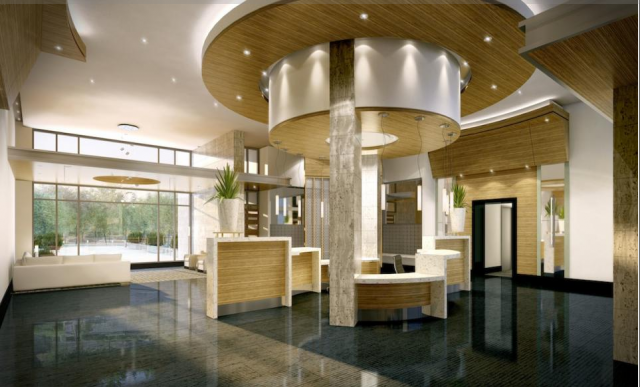 2-Storey Art Deco Lobby at the Station, image courtesy of Brandy Lane Homes