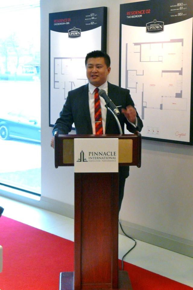 Anson Kwok hosts opening ceremony at Pinnacle Uptown Crystal Condos, Mississauga