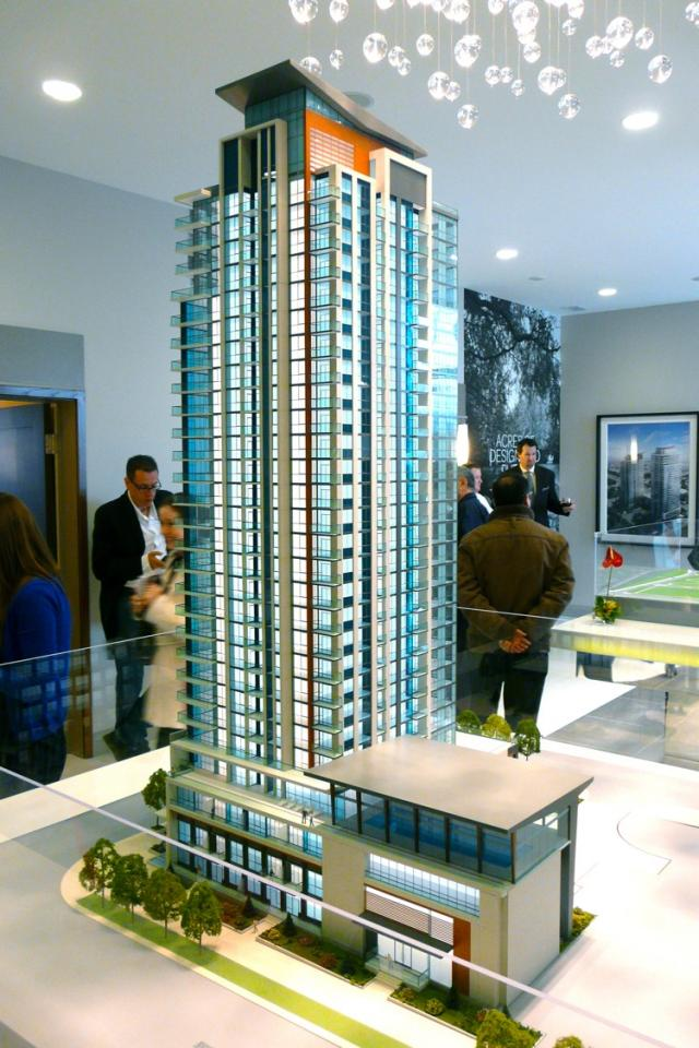 Pinnacle Uptown Crystal Condos scale model, Mississauga