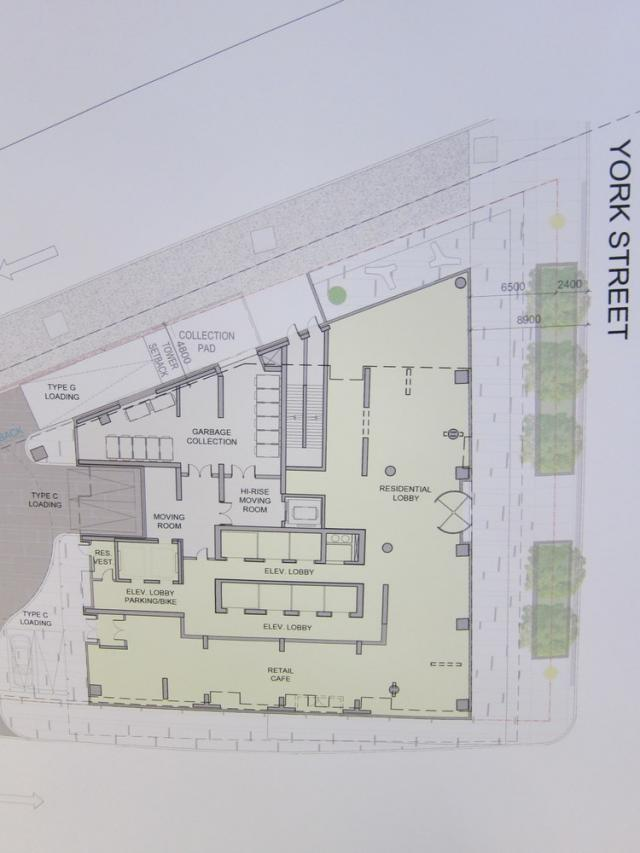 Ten York ground floor site plan Toronto