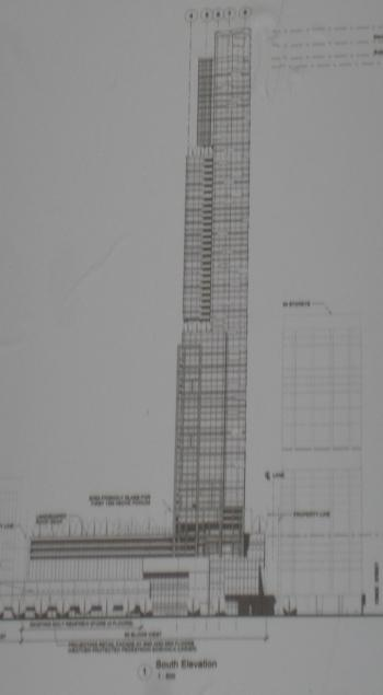 Rendering of new tower planned for 50 Bloor Street West, Toronto