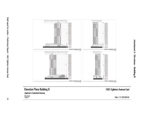 Elevation for Building B at 1891 Eglinton Avenue East