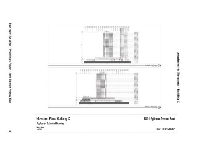 Elevation for Building C at 1891 Eglinton Avenue East
