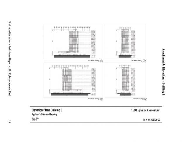 Elevation for Building E at 1891 Eglinton Avenue East
