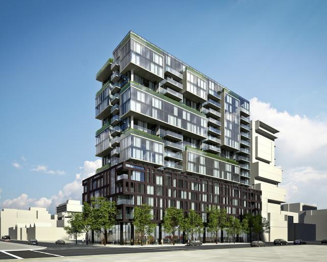 Oneelven Bathurst in Toronto by Harhay and Carttera, with Core Architects