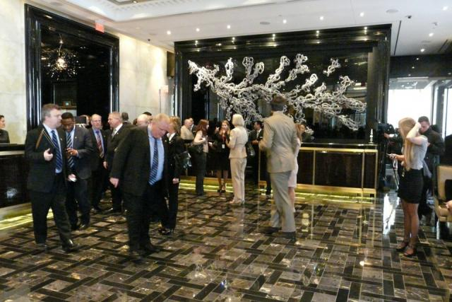 Ribbon cutting event for the Trump International Hotel and Tower Toronto