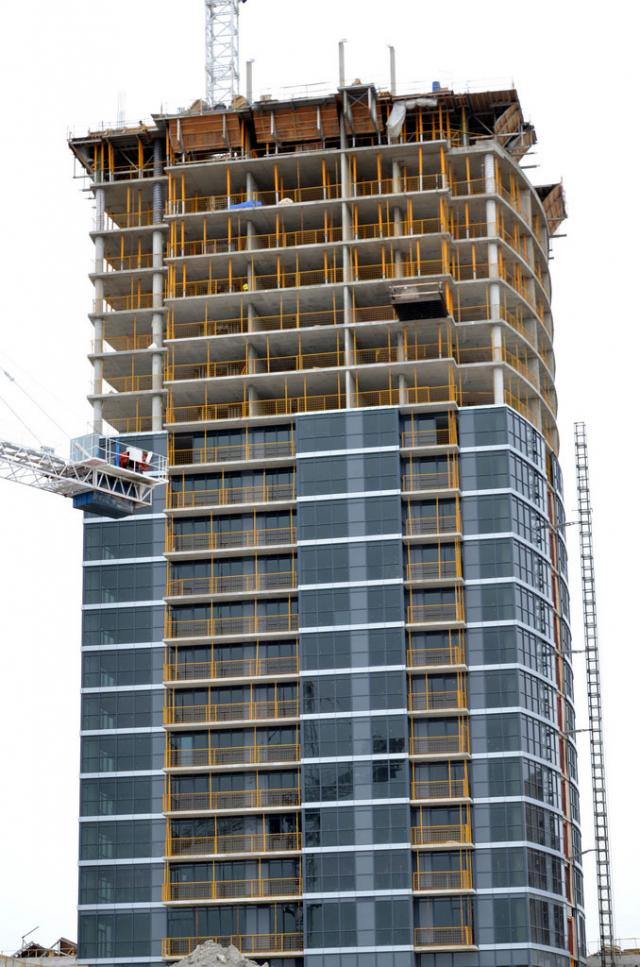 Cladding Rising on One Valhalla by Edilcan Corp, Toronto