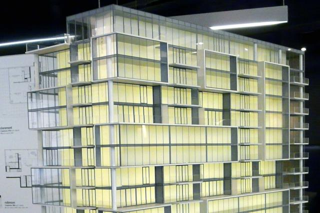 Scale model of oneeleven condos on Bathurst by Harhay Developments, Toronto