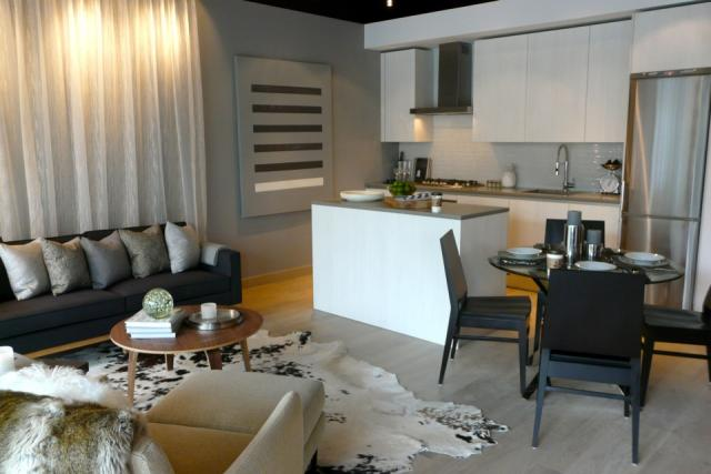 Model suite at oneeleven condos on Bathurst by Harhay Developments, Toronto