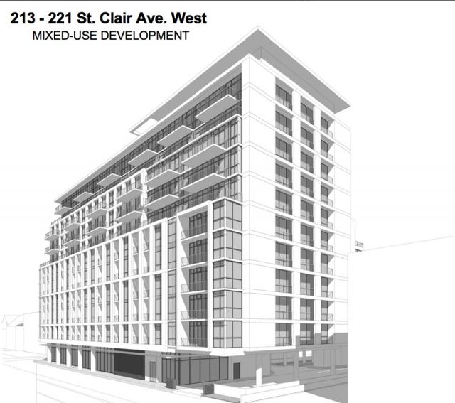 215 St Clair Avenue West in Toronto by Madison Homes and Kirkor Architects.