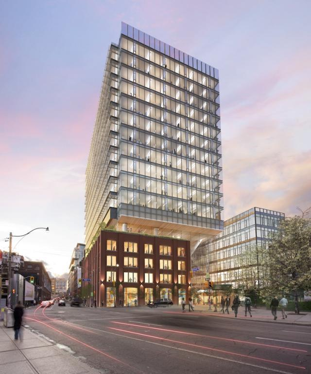 QRC West in Toronto by Allied REIT and &Co Architects.