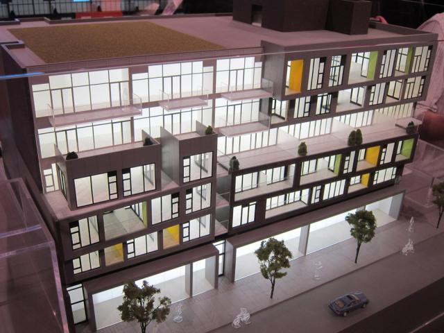 109OZ scale model custom colour terraces Toronto Reserve Properties
