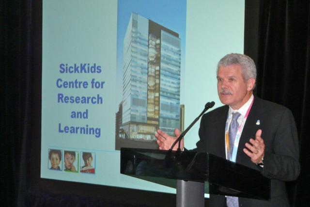 Topping off celebrations at SickKids Hospital Research & Learning Tower, Toronto