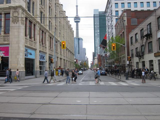 Intersection Queen John Toronto