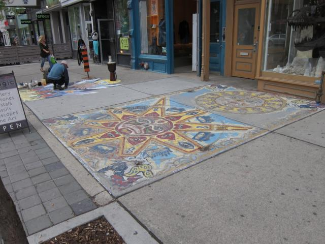 Public sidewalk art Queen Toronto