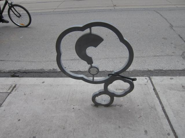 OCAD designed bike stands Queen Street Toronto