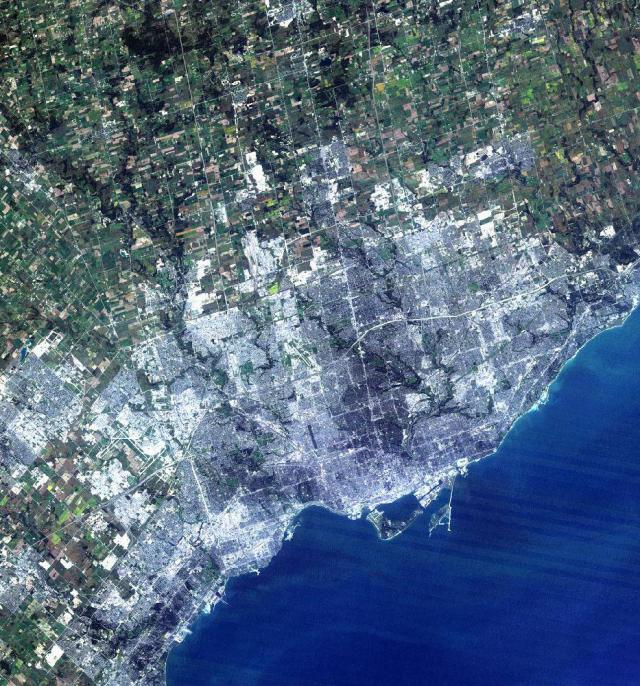 Satellite Image of the Greater Toronto Area, circa mid-1980's.