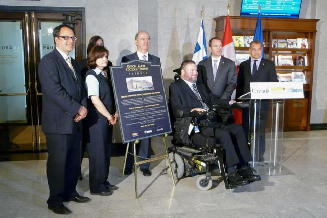 Dedication of VIA Rail Panorama Lounge at Union Station, Toronto
