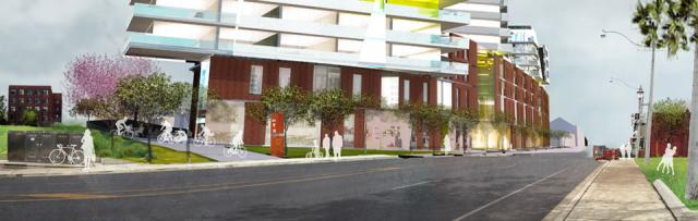 Rendering of 440 Dufferin Street, Toronto. Developed by Topana Investments