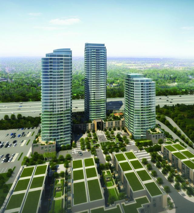 One Valhalla Condos in Etobicoke by Edilcan, Page + Steele / IBI Group Architect