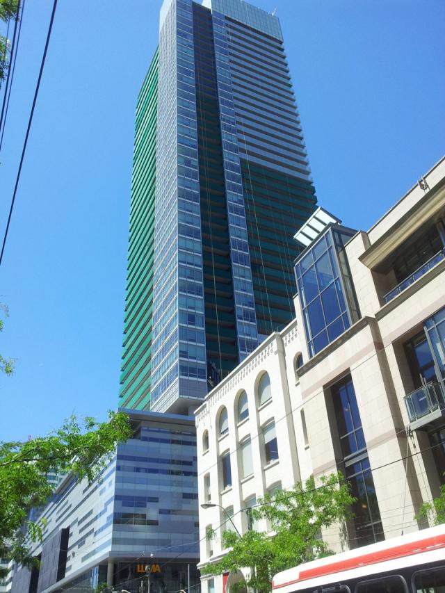 Daniels' Festival Tower condos, Toronto. Designed by KPMB and Kirkor Architects
