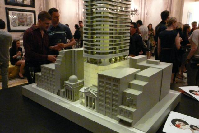 Scale model of Mod Developments' Massey Tower condos Toronto