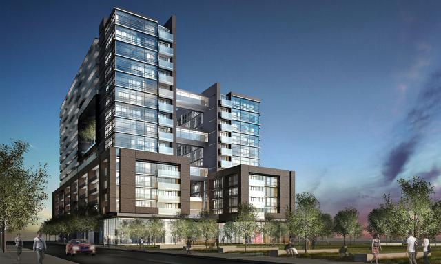 The Edge condo Toronto by Urbancorp, image courtesy of TACT Architecture