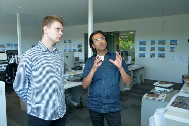 Prishram Jain speaks with Nigel Terpstra at TACT Architecture's offices