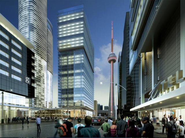 16 York in Toronto by Cadillac Fairview with B + H Architects