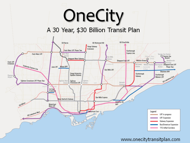 Map of the OneCity plan