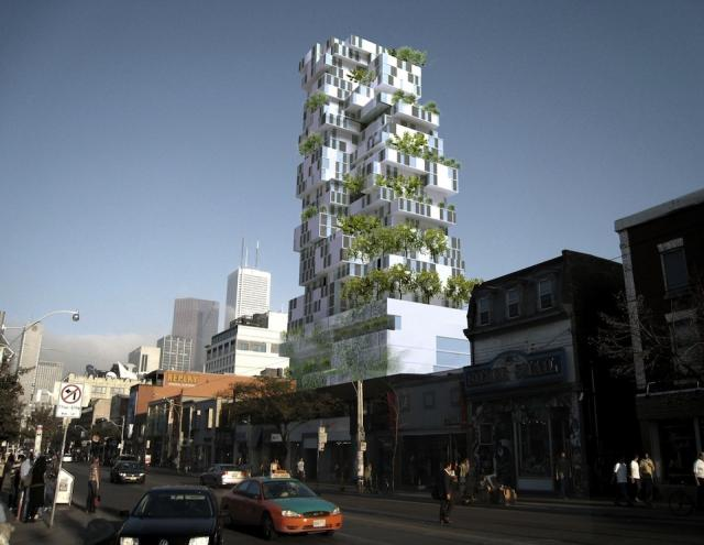 Former Gansevoort Hotel Proposal, Toronto, design by Teeple Architects