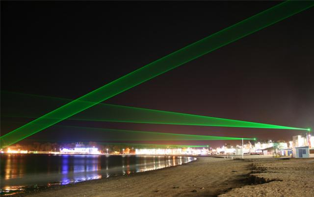 Light Veils, by Vong Phaophanit and Claire Oboussier at the Weymouth Esplanade